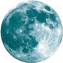 Adesivos de parede Lua Cheia de 12 cm Luz Noturna Fluorescente Lua Parede Efeito Lunar Decalque luminoso para Decoração de...