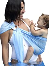 Ring Sling Mesh Baby Wrap Carrier for Newborn Toddler, Lightweight Breathable Adjustable, Summer Swimming Pool Beach