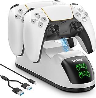 Likorlove PS5 Supersnabb Laddare med LED-Displayer 2.5 Timmars Full Laddning PS5 Controller Laddare för Original Sony Play...