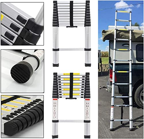 popular 10.5ft Extension Telescopic sale Ladder Aluminum Extendable Tall Multi Purpose Steps high quality Lightweight Heavy Duty for Home Office Loft Building Supplies sale