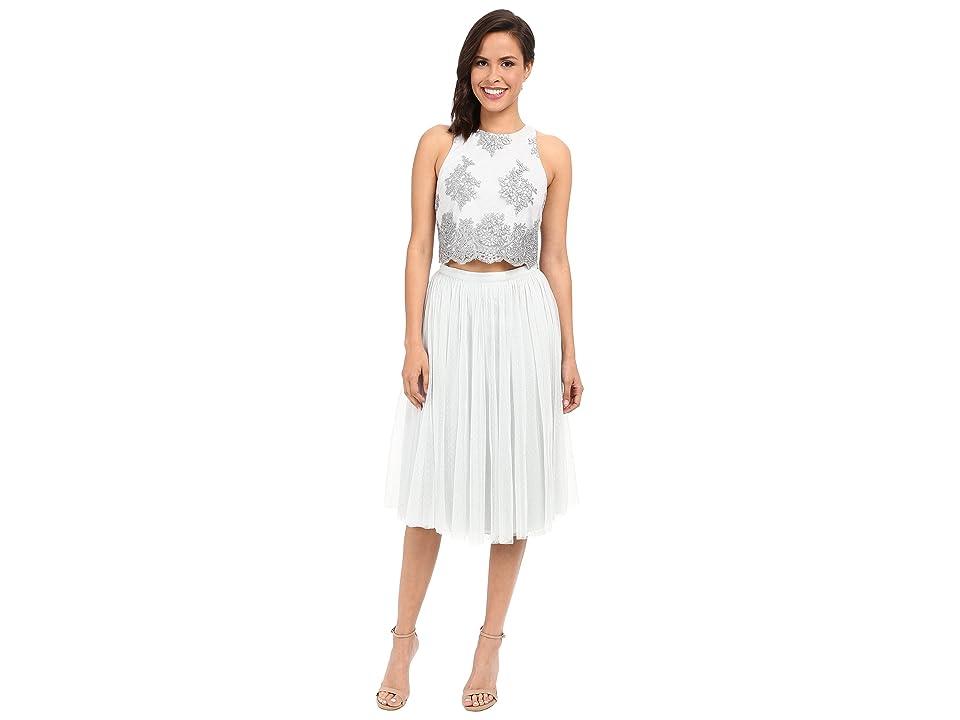 Donna Morgan Beatrix Lace Bodice w/ Skirt (Whisper) Women