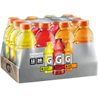 12-Pack Gatorade Original Thirst Quencher Variety Pack, 20 Ounce Bottles