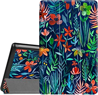 Fintie Slim Case for All-New Amazon Fire HD 8 Tablet (7th and 8th Generation Tablets, 2017 and 2018 Releases), Ultra Lightweight Slim Shell Standing Cover with Auto Wake/Sleep, Jungle Night