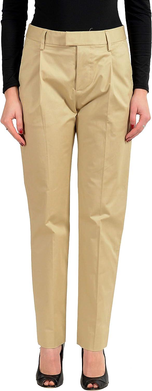 DSQUARED2 Women's Beige Pleated Casual Pants US 4 IT 40