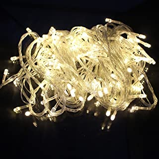 LED String Lights WaterProof 10 m 100 Led Rope Lights Suitable for Bedroom Party Wedding Halloween Outdoor Indoor (Warm White)