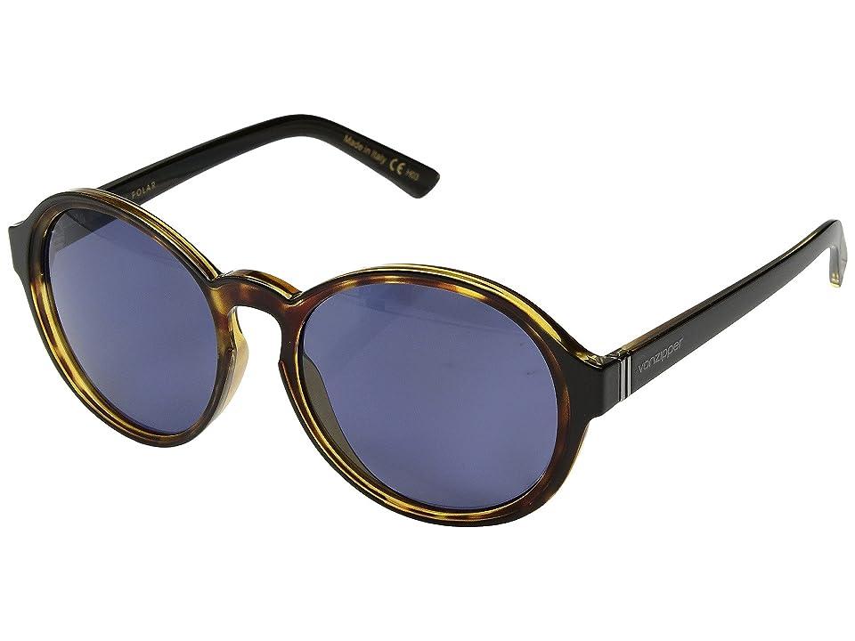 VonZipper Lulu Polar (Black Tort/Wild Slate Polar) Athletic Performance Sport Sunglasses
