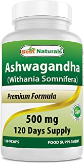 Sponsored Ad - Best Naturals Ashwagandha Capsules for Relaxing Stress and Mood, 500 mg, 120 Count