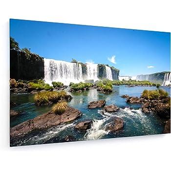 Bilderdepot24 Cuadros en Lienzo Cataratas de Iguazú con el Arco Iris - 120 x 90 cm - Listo tensa, Directamente Desde el Fabricante: Amazon.es: Hogar