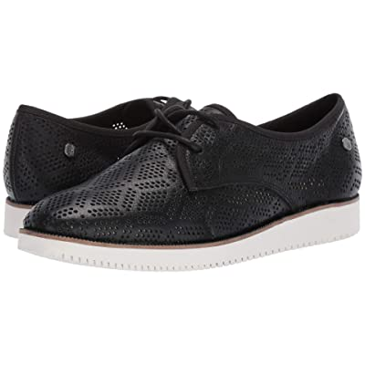 Hush Puppies Chowchow Perf Lace (Black Leather) Women