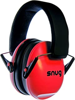 Snug Kids Earmuffs/Hearing Protectors – Adjustable Headband Ear Defenders for Children and Adults (Red)