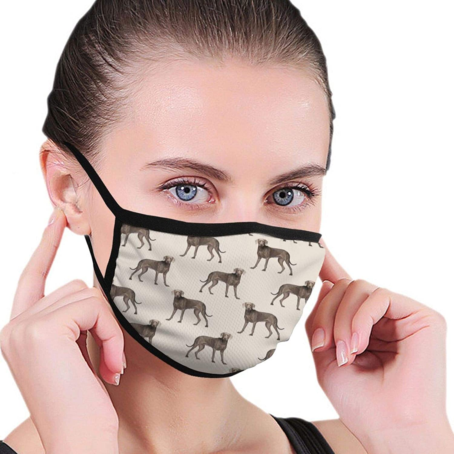 LANJYF 2 Packs Reusable Weimaraner Dog Face Cloth Mouth Protection Unisex Cotton