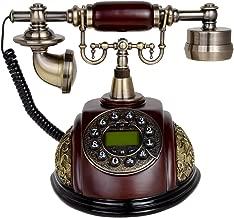 Kmise 116A Retro Vintage Antique Style Push Button Dial Desk Telephone Phone Home Living Room Decor