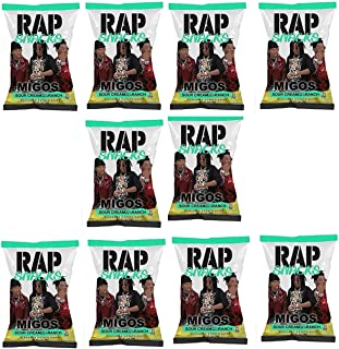 Rap Snacks 1 oz Potato Chip Bags (Migos Sour Cream with a Dab of Ranch, 10 Pack)