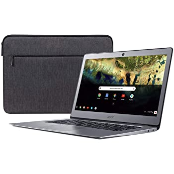 "Acer Chromebook 14, Celeron N3160, 14"" Full HD, 4GB LPDDR3, 16GB eMMC, CB3-431-C9W7 Bundle, Silver"