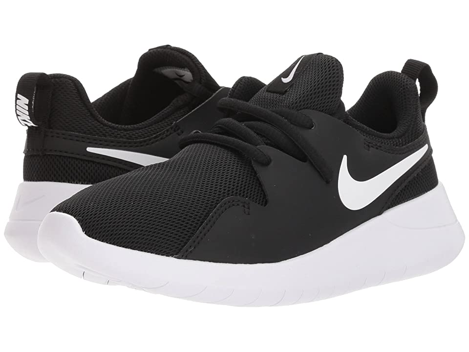 Nike Kids Tessen (Little Kid) (Black/White/White) Boys Shoes