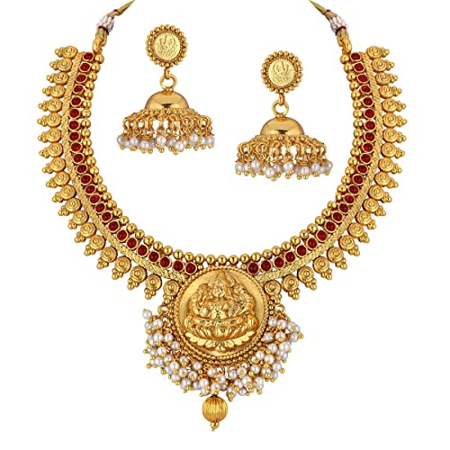 7c90959a692 1 Gram Gold Necklace Set  Buy 1 Gram Gold Necklace Set Online at ...