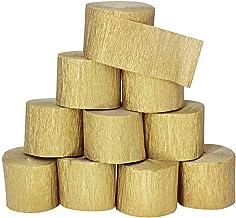 Crepe Paper Streamers - ALYN Metallic Gold Crepe Paper Roll (Metallic Gold)