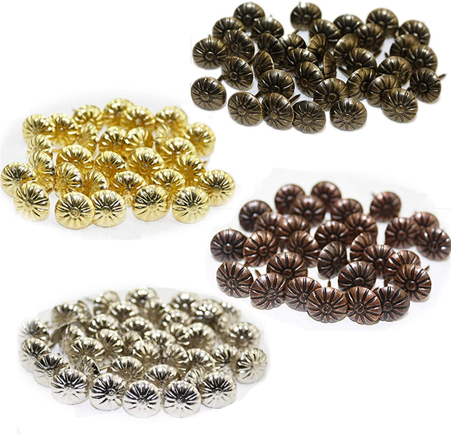 QJKW Brand new New Shipping Free Thumbtack 50pcs Retro Hardware Bronze Uph Brass Accessories