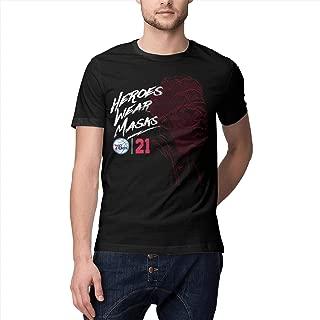 Basketball Star O-Neck Short Sleeve t Shirt Retro for Men