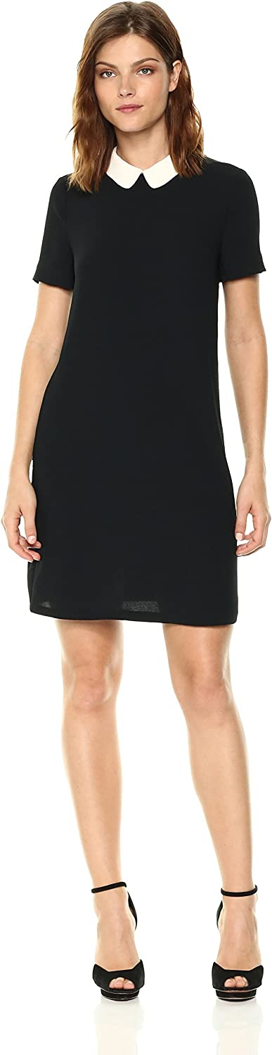 A X Armani Exchange Womens Short Sleeve Collared Dress Casual Dress