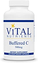 Vital Nutrients - Buffered C - Gentle Vitamin C for Sensitive Individuals - 220 Capsules per Bottle - 500 mg