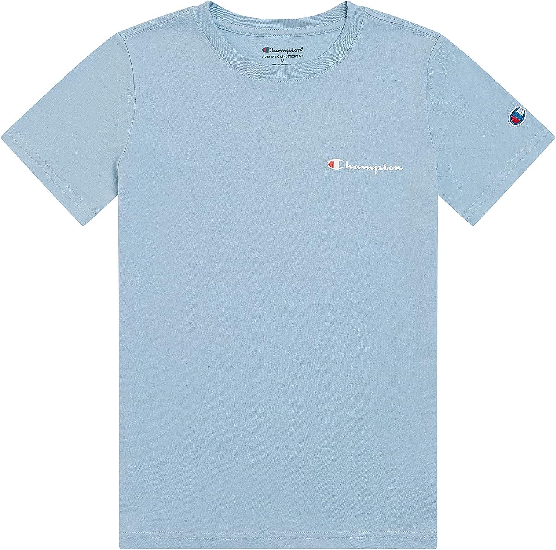 Champion Boys Short Sleeve Tee Shirt Chest Script Big and Little Boys Top