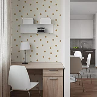RoomMates Gold Dots Peel and Stick Wallpaper
