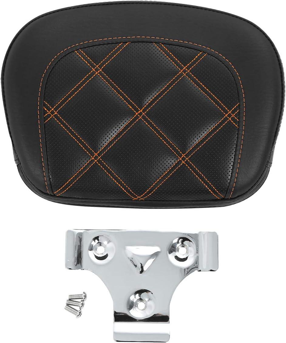 SLMOTO Detachable Leather Large discharge sale Sissy Bar Fits Kansas City Mall Bracket Pad Backrest fo