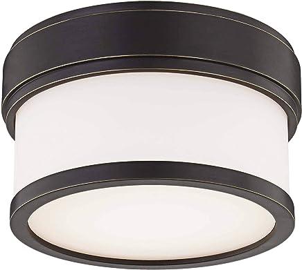 Hudson Valley Lighting 1420-OB Gemma LEDフラッシュマウント、古いブロンズ仕上げ