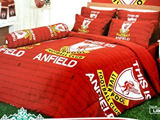 Liverpool Football Club Official Licensed Bedding Set, Bed Sheet, Pillow Case, Bolster Case, Gift Guide, Gift Ideas LV1 (Set A, Twin Size)