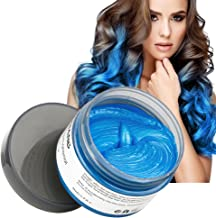 MOFAJANG Hair Color Wax Instant Blue Hair Color Wax Temporary Hairstyle Cream 4.23 oz Hair Pomades Hairstyle Wax for Men and Women (Blue)
