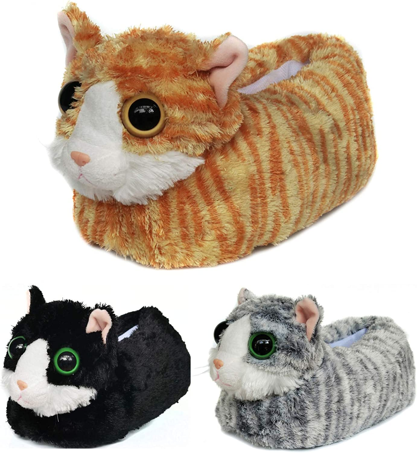 Indoor Fuzzy Winter Animal Cat Plush Kitty Soft Max 76% OFF Max 53% OFF Slippers Men for