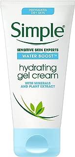 Simple Water Boost Hydrating Gel Cream, Face Moisturizer, 1.7 oz