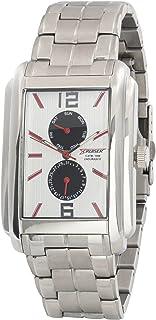 ساعة للرجال من كروزر بمينا ابيض وسوار ستانلس ستيل C8578 Gswb، كوارتز، عرض انالوج