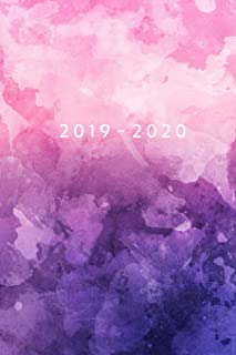 2019 - 2020: Weekly Planner Starting May 2019 - Dec 2020 | 6 x 9 Dated Agenda | Appointment Calendar | Organizer Book | Soft-Cover Watercolor Purple Pink