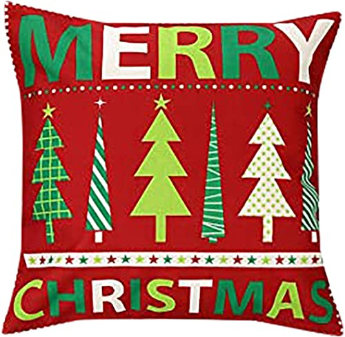discount OPTIMISTIC Christmas Pillow Cover Case Throw Pillow Case Cover Home outlet online sale Decor Sofa Pillow Cushion Cover Christmas Decorative lowest Pillowcase Indoor Decor Zippered Square 18 x 18 Inches online