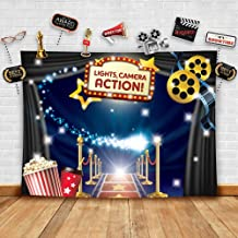 Best Hollywood - Movie Theme Photography Backdrop and Studio Props DIY Kit. Great as Dress-up and Awards Night Ceremony Photo Booth Background, Vintage Costume Birthday Party Supplies and Event Decorations Reviews