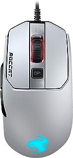 ROCCAT Kain 122 Titanクリック RGB ゲーミングマウス (光学式 Owl-Eye 16K, サイドボタン, 軽量 89g) ホワイト (国内正規品) ドイツデザイン&エンジニアリング ROC-11-612-WE