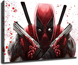 """12/""""x22/'' Marvel Deadpool HD Canvas Print Paintings Home Decor Wall Art Pictures"""