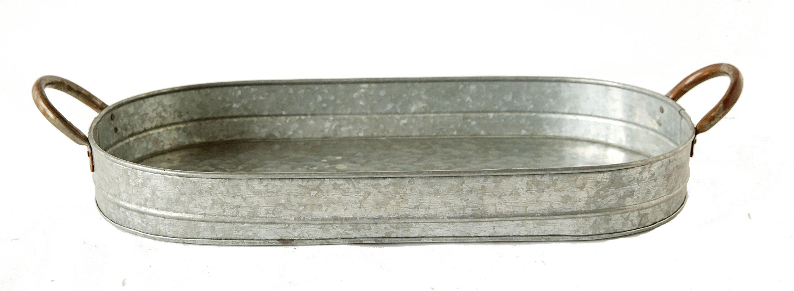 Brown Mud Pie 4751095 Enamel Pedestal Serving Board