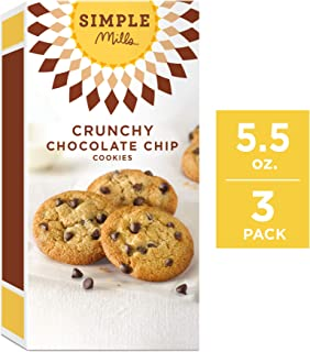 Simple Mills Crunchy Cookies, Chocolate Chip, 5.5 Ounce, 3 Count
