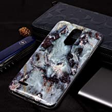Mobile phone case Marble Pattern Soft TPU Case For LG K8 (2018)(Plum Blossom) (Color : Grey)