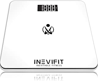 INEVIFIT Bathroom Scale, Highly Accurate Digital Bathroom Body Scale, Measures Weight for Multiple Users. Includes a 5-Year Warranty
