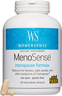 WomenSense by Natural Factors, MenoSense, Supports Relief from Hot Flashes, Night Sweats and Other Symptoms of Menopause, Gluten Free, 180 capsules (90 servings)