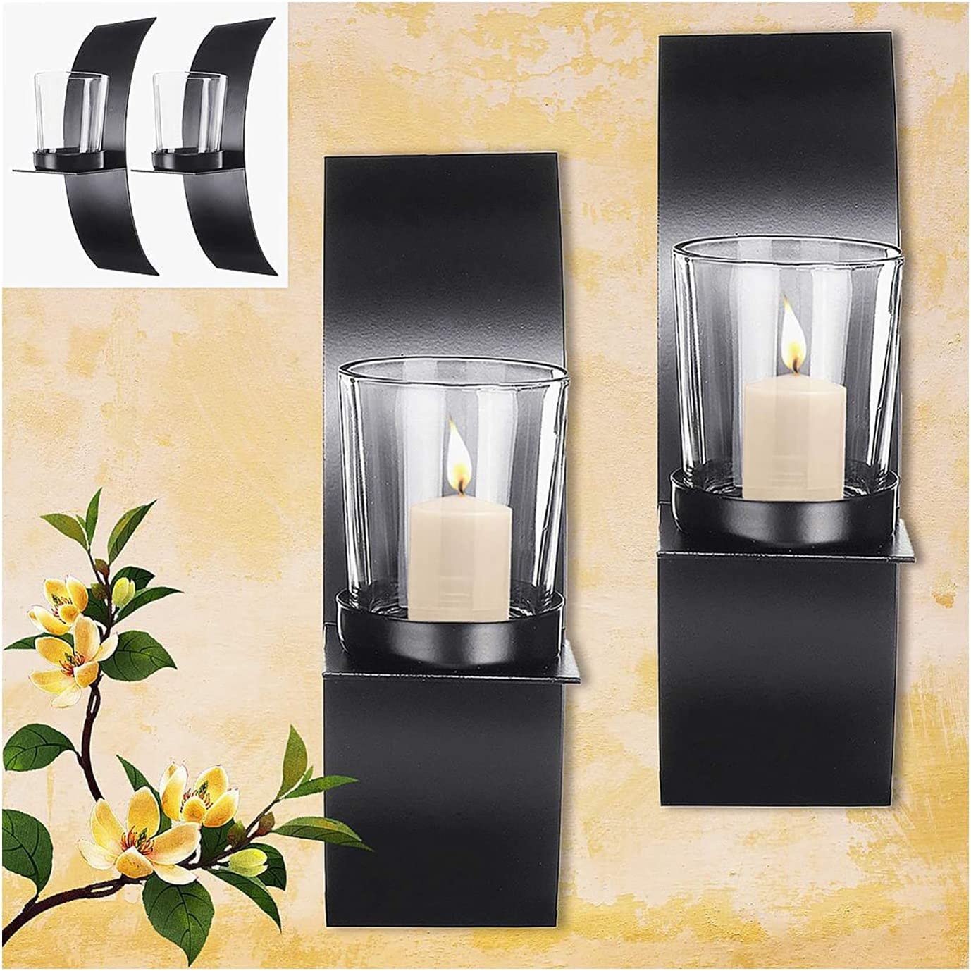 ZXCVBNM Candle Holder New item Wall Sconce Style 2Pcs Hanging safety Modern