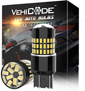 VehiCode 7443 LED Bulb White Light 6000K Kit Dual Contact 7440 7441 7444 T20 992 W21W WY21W Replacement w/Projector for Ca...