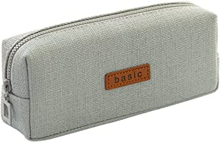 iSuperb Cotton Linen Pencil Case Student Stationery Pouch Bag Office Storage Organizer Coin Pouch Cosmetic Bag (Grey)