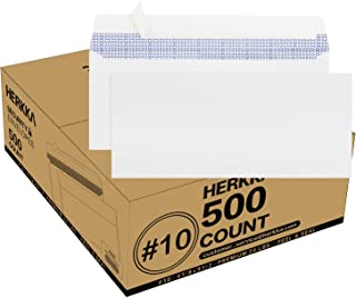 #10 Security Self-Seal Envelopes, No.10 Windowless Bussiness Envelopes, Security Tinted with Printer Friendly Design - Env...