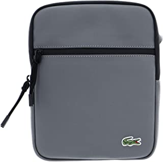 Lacoste LCST Flat Crossover Bag M Smoked Pearl Noir