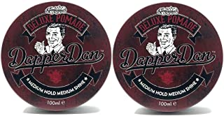 Deluxe Pomade By Dapper Dan, Medium Hold Medium Shine, No Greasiness Or Flakiness, Citrus & Vanilla Fragrance 2 x 100ml Duo Pack